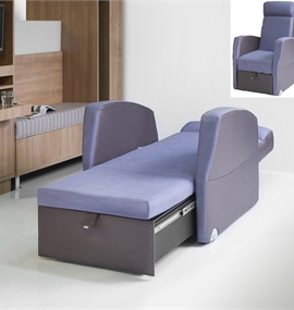 Another unique full size seating and sleeping chair which quickly extends to a 2m bed - ideal for family sleepovers in patient rooms maternity and ... & Hospital Ward Furniture and Chair Beds in Essex Kent and London